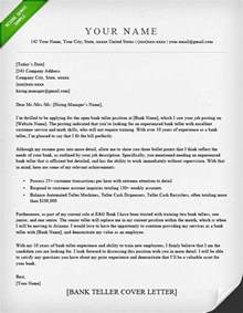Cover Letter Bank Teller by Bank Teller Cover Letter Sle Resume Genius