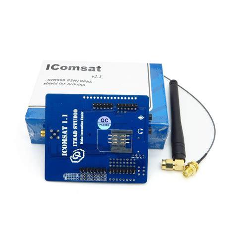 Icomsat Gsm Gprs Shield V1 1 icomsat gsm gprs sim900 module with antenna for arduino mega