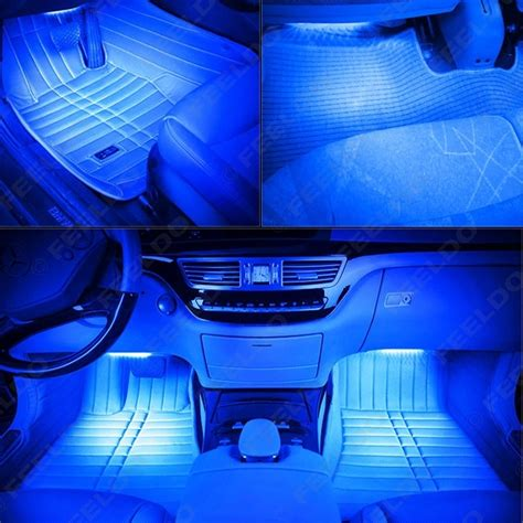 Feeldo Car Accessories Official Store 4pcs Set Car Led Light Strips For Car Interior