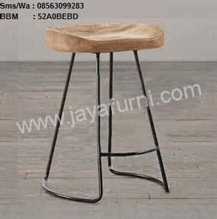 Kursi Bar Kayu Kombinasi Besi kursi bar kayu kaki besi vintage jayafurni mebel jepara jayafurni mebel jepara