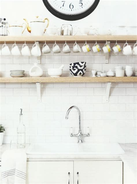 Mirror Tile Backsplash Kitchen by Rustic White Kitchens Design Ideas