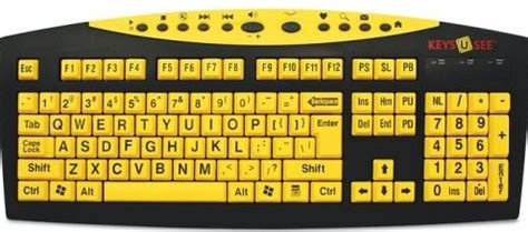 printing large letters on computer large print usb ps2 computer keyboard yellow with black
