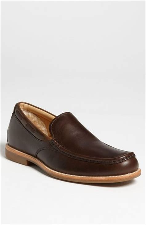 ugg loafers ugg via ponte loafer in brown for stout lyst
