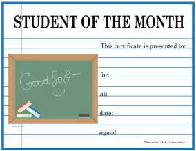 free student of the month certificates certificate free