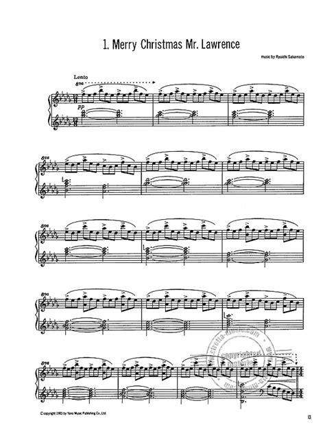 avec piano merry christmas  lawrence  sakamoto ryuichi buy   stretta sheet