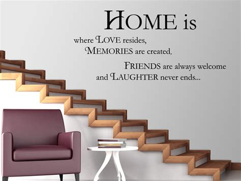 Home Is Where The Is by Wandtattoo Home Is Where Resides Bei Homesticker De