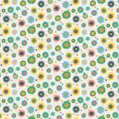 Nurina Flo Sabrina Top In Navy beebumble s shop on spoonflower fabric wallpaper and