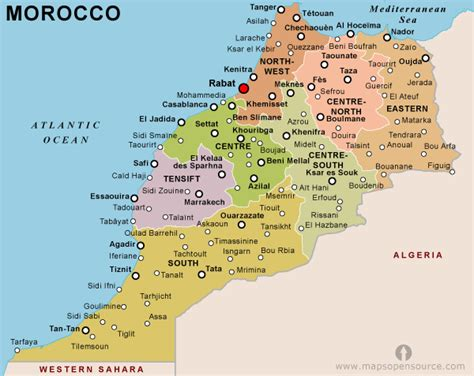 world map of morocco morocco map