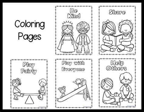 coloring pages kindness free coloring pages of classroom preschool