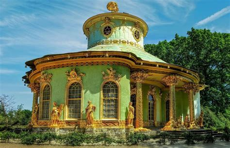 Painting Mobile Home Exterior - park sanssouci chinese house by pingallery on deviantart