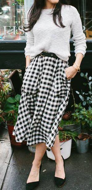 Mischa Gingham by Best 25 Midi Skirt Ideas On Pleated
