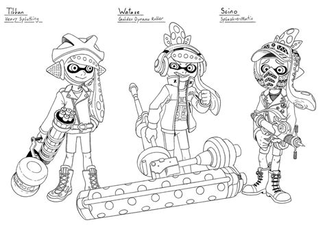 Splatoon 2 Coloring Pages by Splatoon Coloring Sheet Printable Coloring Pages