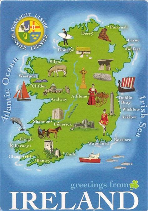 one postcard one world map postcard from ireland