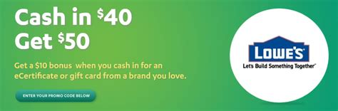 Do Coinstar Machines Take Gift Cards - coinstar promotional offer 50 00 lowes gift card for 40 00 coupons 4 utah