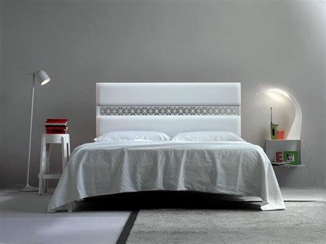 bed upholstered headboard soft line idfdesign