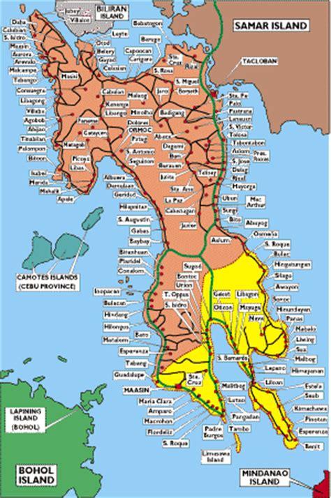 map of san jose northern samar map of leyte
