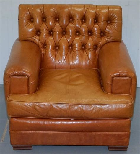 Distressed Brown Leather Armchair by Ralph Armchair Aged Brown Vintage Distressed