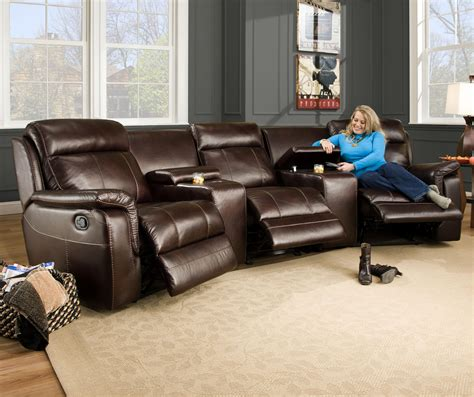 Curved Sectional Sofa With Recliner 3 Recliner Sofa Catner Seal Transformer Reclining Sofa With 3 Recliners Thesofa
