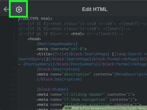 tumblr themes with html codes how to put a background picture in your tumblr theme