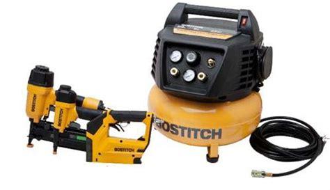 bostitch btfp72646 3 tool finish trim combo w 6 gallon pancake air compressor