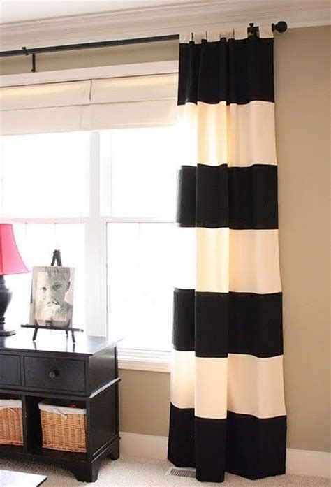 black cream striped curtains striped curtains in black and cream living it up pinterest