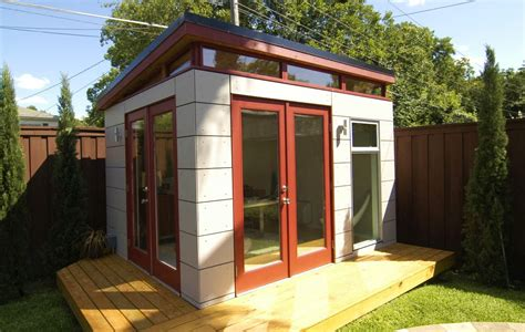 backyard office plans stylish design prefab office shed entracing backyard