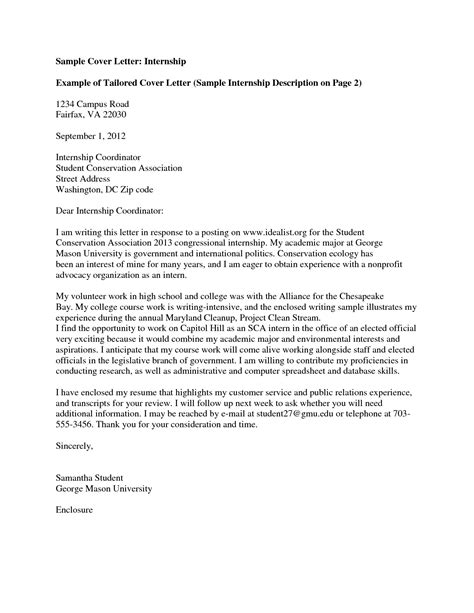 How To Write Internship Cover Letter by How To Write A Cover Letter For An Internship
