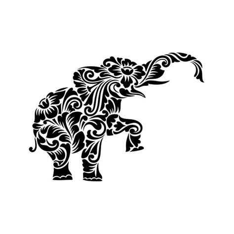 simple color vinyl floral tribal elephant stickers factory
