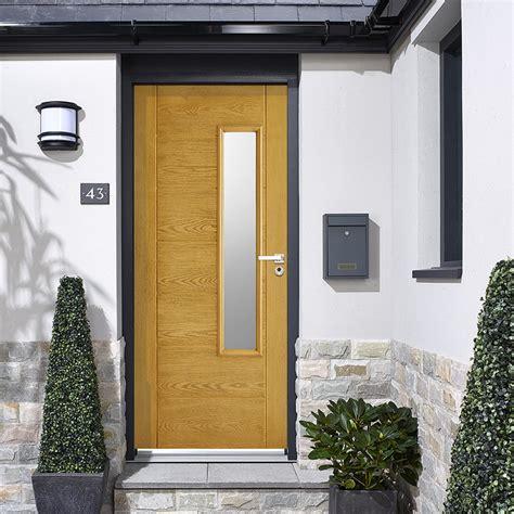 Grp Oak Newbury Glazed Composite Door Composite Doors Composite Doors Exterior