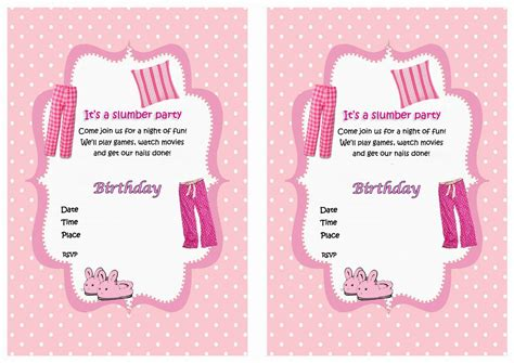 printable birthday invitations for sleepover 50 beautiful slumber party invitations kitty baby love