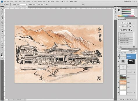 photoshop tutorial japanese style photoshop tutorial create japanese art advanced