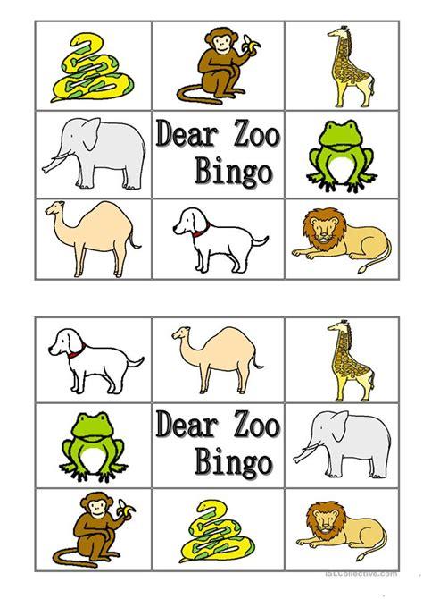 dear zoo printable animals dear zoo animal bingo worksheet free esl printable