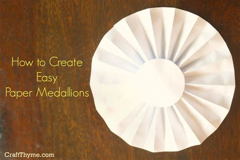 How To Make Paper Rosettes - paper medallion tutorial craftbnb