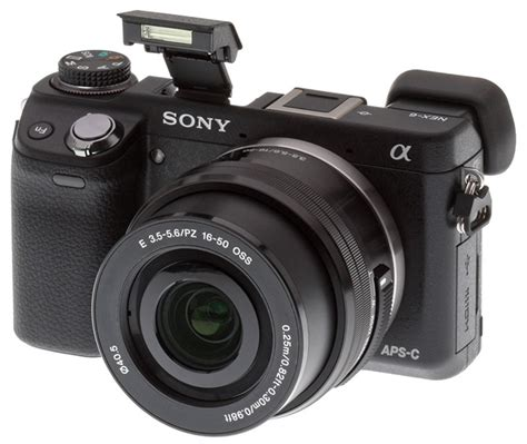 compact with aps c sensor sony alpha nex 6 compact with viewfinder flash