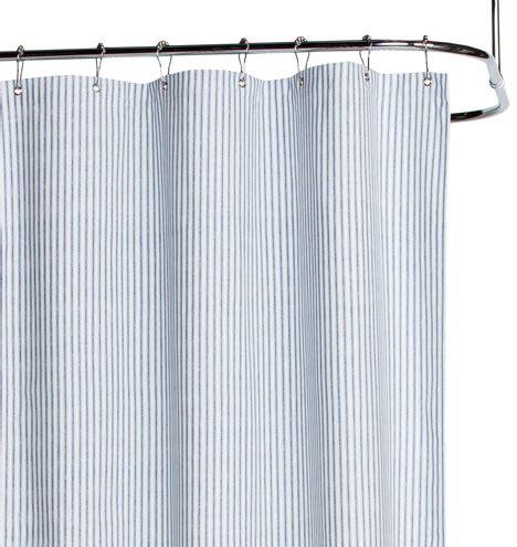 duck cloth curtains blue ticking cotton duck cloth shower curtain rejuvenation