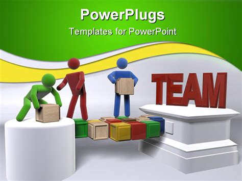 team powerpoint templates free powerpoint template teamwork metaphor with 3d