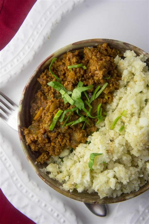 paleo ground beef korma foraged dish