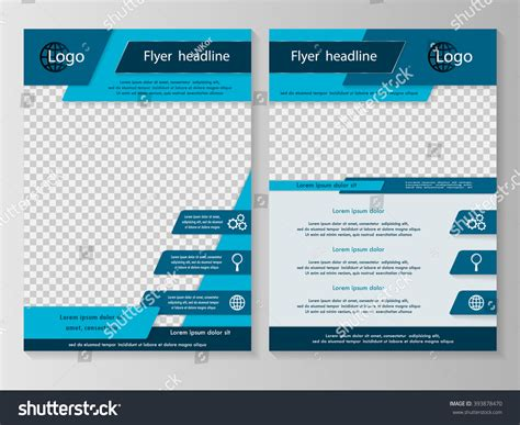 design flyers near me vector flyer template design business brochure stock