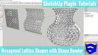 sketchup layout polygon creating hexagonal lattice shapes in sketchup with shap