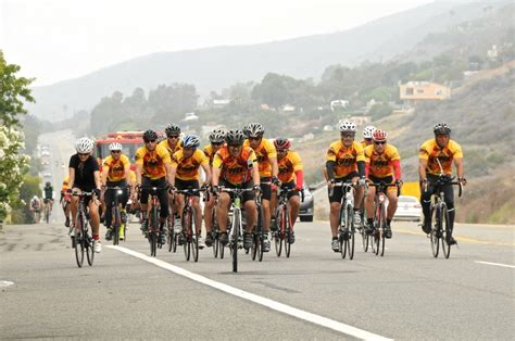 malibu events today firefighter cyclists passing through malibu today for