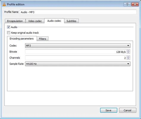 format audio codec how to extract audio from video files using vlc media