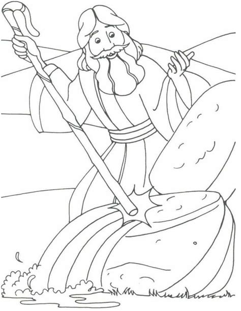 moses coloring sheets coloring home