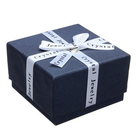 how to make jewelry gift boxes ribbon bowknot cube ring earrings jewelry box cardboard