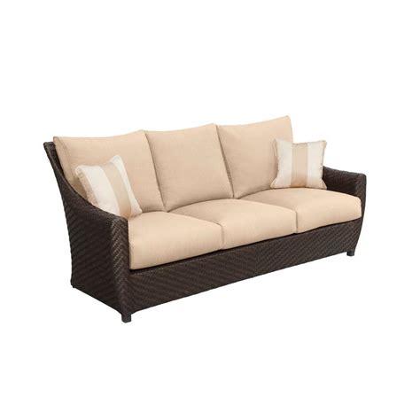 hton bay woodbury patio sofa with chili cushion dy9127