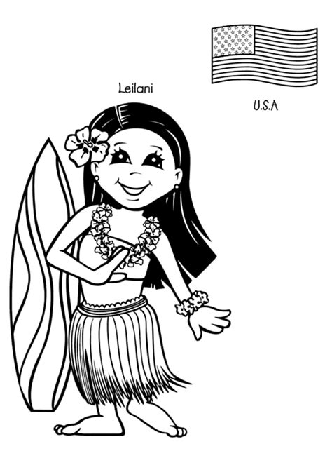 multicultural coloring pages preschool kids around the world coloring pages coloringpagesabc com