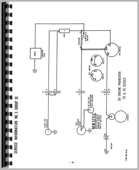 deutz dx110 tractor wiring diagram service manual