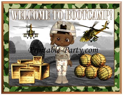 army themed pattern printable camouflage party supplies military birthday