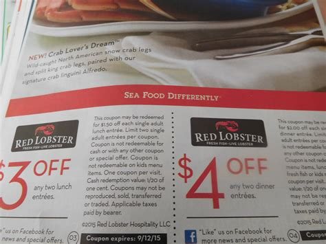 2015 red lobster coupons buy one get one free deals sunday paper public opinion chambersburg pa ship saves