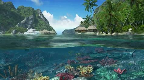 caribbean islands  screensaver youtube