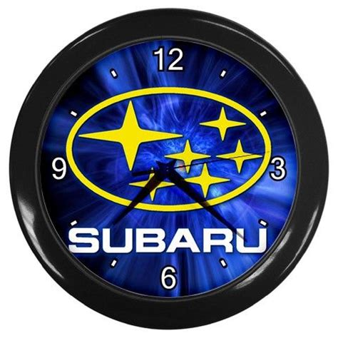 black subaru logo subaru car logo 10 quot wall clock black frame home decor
